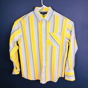 SEAN JOHN Striped Yellow/Blue French Cuff Shirt